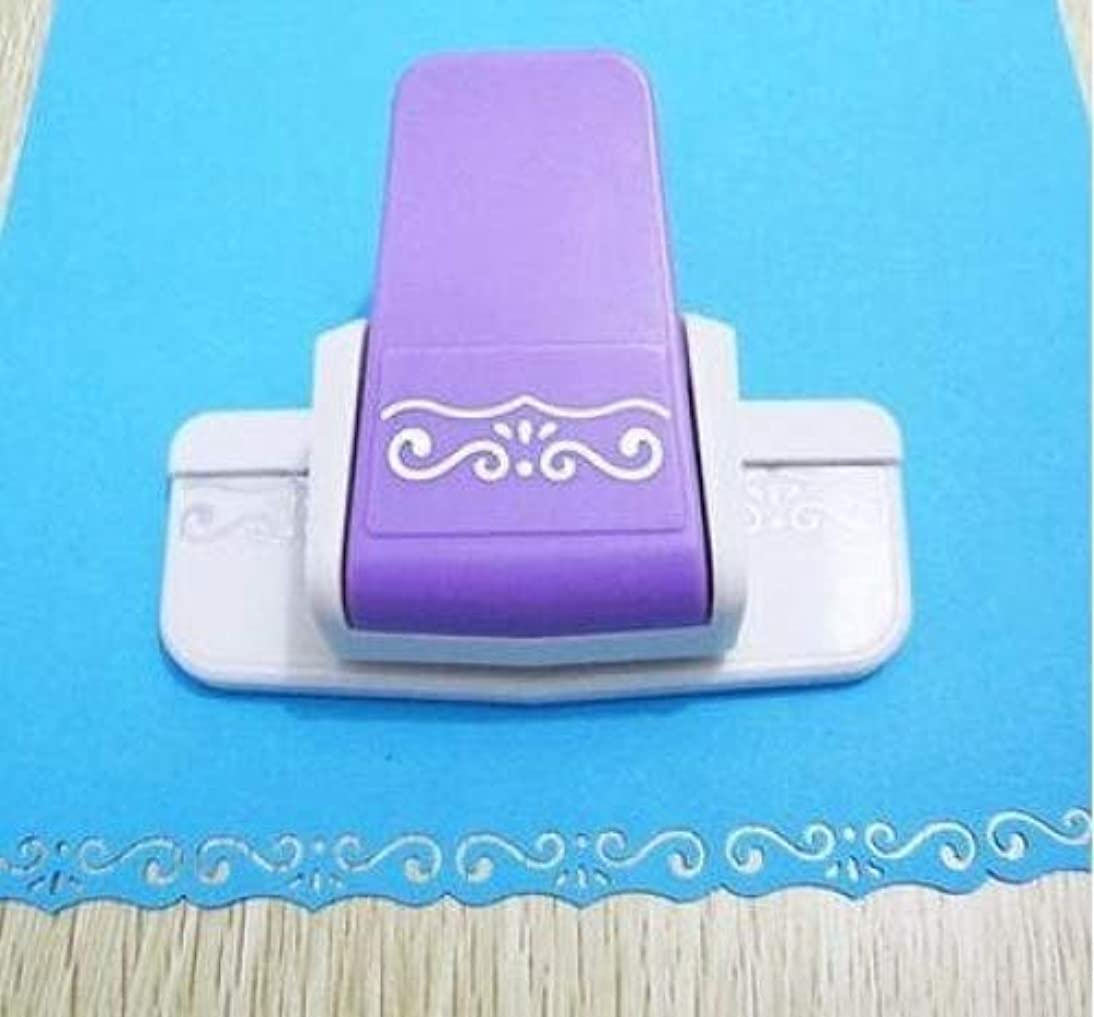 Fascola 1 pcs New fancy border punch S flower design embossing Punch scrapbooking handmade edge device DIY paper cutter Handmade Craft gift (Style 4)