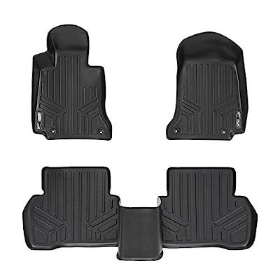 2007-2010 3 mm Rubber Connected Essentials CEM300 Car Mat Set for C Class Auto Black with Black Trim