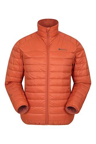 Mountain Warehouse Featherweight Mens Down Puffer Jacket - Packaway Orange X-Small