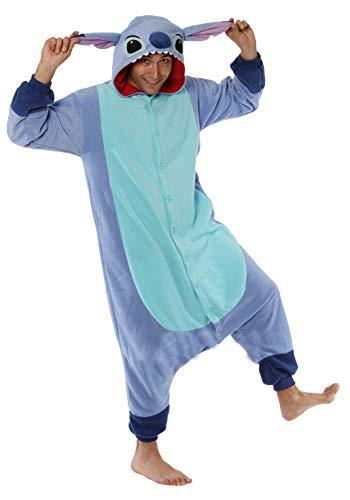 Generique - Kigurumi Lilo and Stitch-Overall Kostüm für Erwachsene Flieder-blau M / L