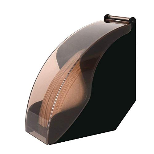 CAFEMASY Coffee Filter Holder Filter Paper Dispenser Rack with Dustproof Cover