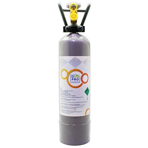 OCOPRO CO2 Flasche 2Kg TÜV bis 2031, GEFÜLLT für Aquarien Kohlensäureflasche NEU