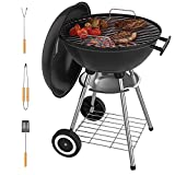 VENYN Original Kettle Premium Portable Charcoal Grill for Outdoor Grilling 18inch - Barbeque Grill and Smoker for Outdoor Picnic, Patio, Backyard & Camping