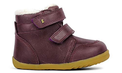 Bobux Step Up Timber Arctic Merino Fleece Boot – Première étape – Une chaussure en cuir de serrure, doublure en mérinos, semelle souple et résistante - - Prune, 20 EU EU