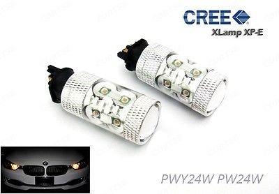 LEDIN Amber PWY24W PW24W CREE LED 50W Projector Turn Signal Daytime Running Light DRL