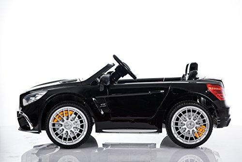 RC Auto kaufen Kinderauto Bild 5: Kinderelektroauto - Mercedes SL 65 AMG - 2 Motoren - Kinderfahrzeug Lizenz Fernbedienung -Schwarz*