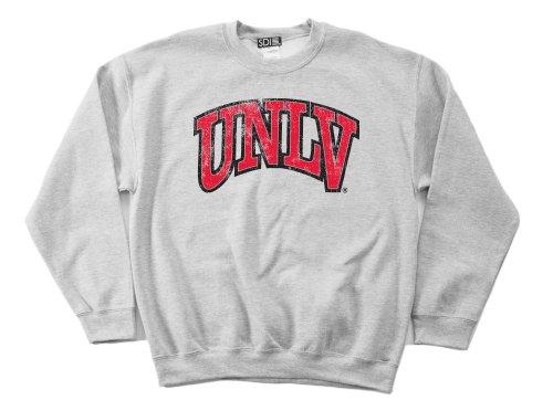 UNLV Rebels 50/50 Blended 8-Ounce Vintage Arch Crewneck Sweatshirt, Small, Sport Grey