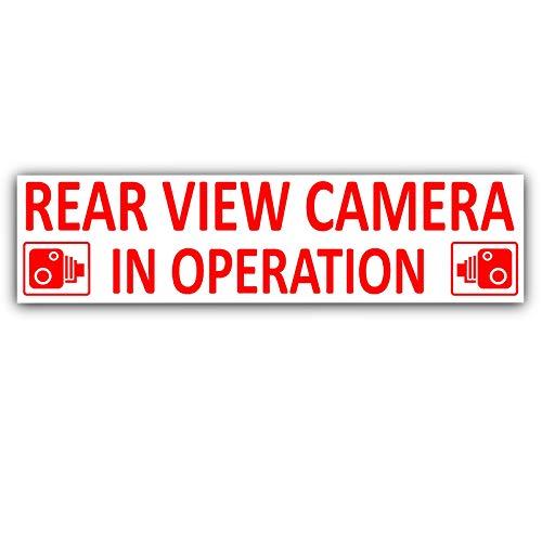 Platina Plaats 1 x Achteruitrijcamera In gebruik Stickers-EXTERNE CCTV Signs-Van,Taxi,Car,Cab rood op wit, Vrachtwagen, Vrachtwagen, Bus,Mini,Minicab veiligheid en veiligheid-Go Pro,Dashcam