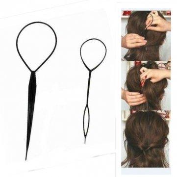 Accessoire coiffure cheveux tresse queue de cheval X2