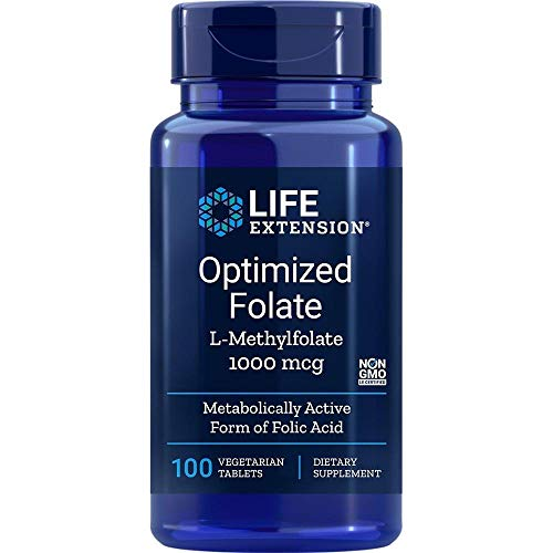 Life Extension, Folato Optimizado, 1.000 mcg, 100 Tabletas vegetarianas