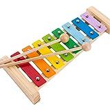 Yifuty Octave, Kinder Hand Percussion Schlaginstrument, Educational Percussion Musik-Spielzeug-Xylophon, Junge und Mädchen-Geschenk, knackiger Sound, Plus-Kissen