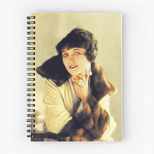Negri Cinema Celebrity Hollywood Actor Film Movie Pola Nettes Schul-Fünf-Sterne-Spiral-Notizbuch mit haltbarem Druck