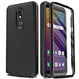 AMENQ Case for LG Stylo 5 L722DL, LG Stylo 5+/Stylo 5V/Stylo 5X Case, [Built-in Screen Protector] Full Body Heavy Duty with TPU Bumper and Rugged Hard PC Armor Protective Cover for LG Phone (Black)