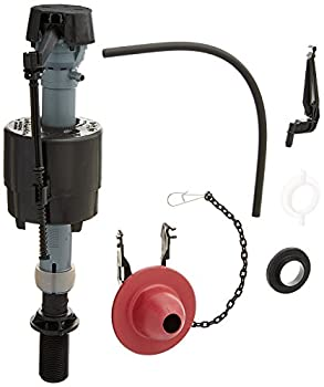 Fluidmaster 400CRP14 Universal Toilet Fill Valve and Flapper Repair Kit for 2-Inch Flush Valves Easy Install