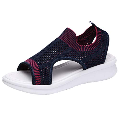 Check Out This Goddessvan 2019 Women Open Toe Breathable Comfy Platfor Hollow Out Casual Wedges Mesh...