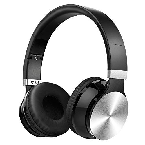 Mpow H19 Auriculares con Cancelación de Ruido, Auriculares Diadema Bluetooth 5.0 con Micrófono CVC 8.0, 45 Horas de Reproducir, Sonido Estéreo, Cascos con Cancelación de Ruido para PC/TV/Móvil