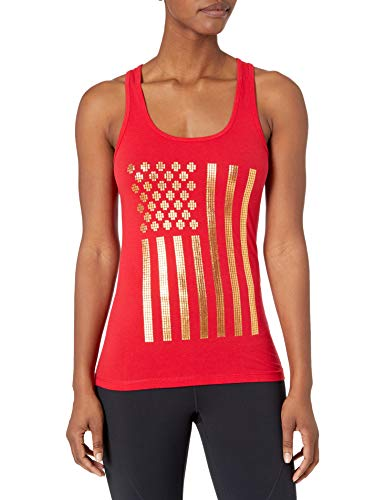Speedo Women's Female Pool Flag Tank Top, Red, Small