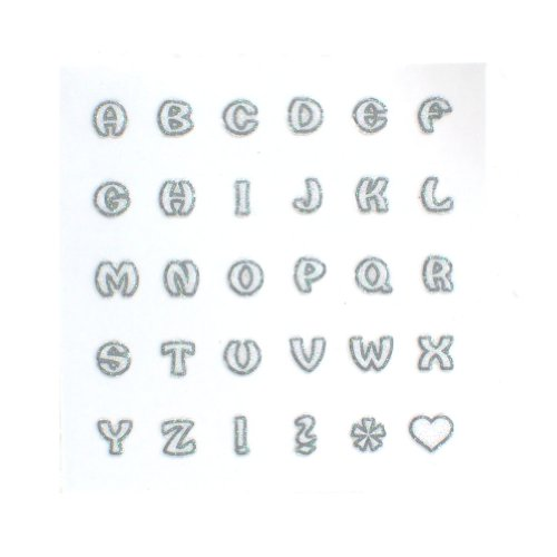 Nuart Beauty Nail Art Sticker Set Alphabet 12 Packs in Different Designs