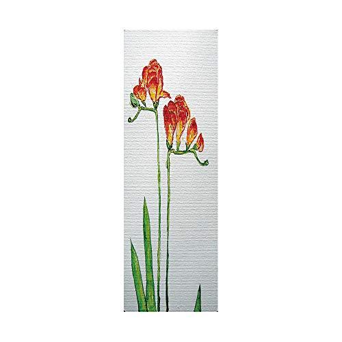 Pegatinas de nevera para cubrir puertas completas 3D narciso autoadhesivo para puerta de refrigerador, vinilo profesional, 60 x 180 cm (1 unidad)
