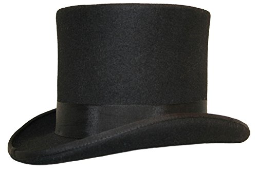 Sombrero de copa (100% lana) Negro negro Small