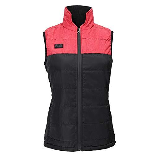 Verwarmd vest voor dames en heren Lichte fleece verwarming Gilet met USB-aansluiting casual comfortvest voor motorfiets motorslee fiets paardrijden jacht golf