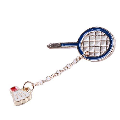 Fliyeong Persönlichkeit Pingpong Badminton Brosche Pins Kleidung Taschen Rucksäcke Jacke Abzeichen Zubehör für Frauen, Badminton Stilvoll
