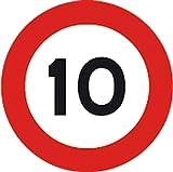 3G Segnale Stradale mobile per Cantiere Limite 10 Km/h ø 60 cm 805615041