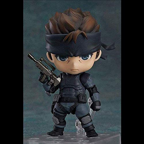JIEMIANY Metal Gear Solid - Solid Snake Nendoroid Fingure Figuras de acción Figura de Anime Adornos de Juguete 10CM, Adornos Exquisita colección. (AAcD)