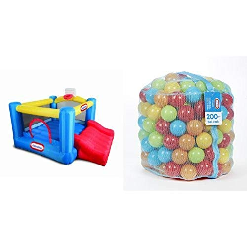 Little Tikes Junior Sports 'n Slide Bouncer and 200 Ball Pack Bundle