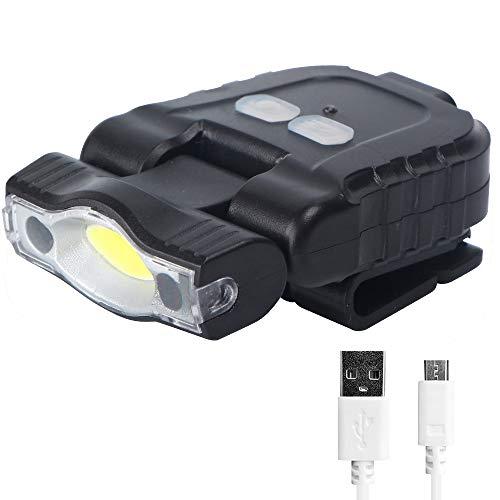 FISHNU COB 5 Watts Wave Induction Head Lamp Cap Lamp,USB Recargable Faro de Alta Potencia