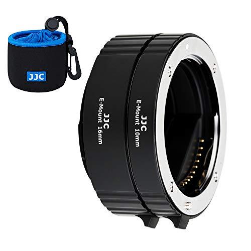 JJC Autofokus AF Makro Zwischenringe Set 10MM 16MM für Sony E Mount DSLR Kameras Objektiv, Zwischenringsatz Macro Extension Tube