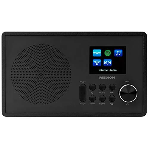 MEDION E85080 WLAN Internet-UKW Radio (RDS, Spotify, USB, AUX in, DLNA, UPNP) schwarz