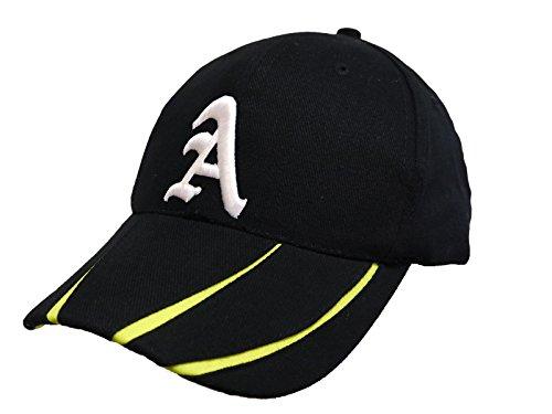 Morefaz Casquette de Baseball Snap Back Bonnet Cap Chapeau Snapback 3D A-Z Femmes Homme (A)