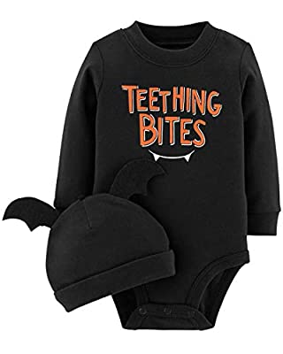 Carter's 2-Piece Pumpkin Hat and Collectible Bodysuit (3 Months, Black)