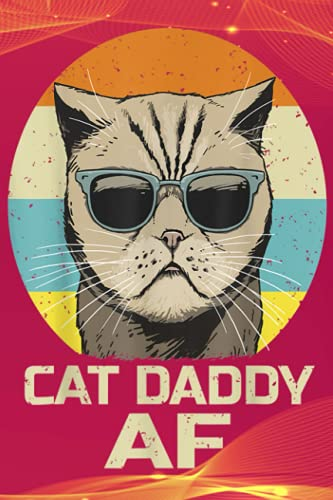 Office Organizer | Cat Daddy AF Sunglasses Vintage Retro Funny Fathers