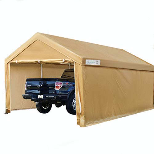 Quictent 10'x20' Heavy Duty Car Canopy Carport Galvanized Car Shelter with Reinforced Steel Cables and Ground Bars