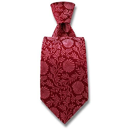 Robert Charles. Cravate. Pasadena, Soie. Rose, Fantaisie. Fabriqué en Italie.