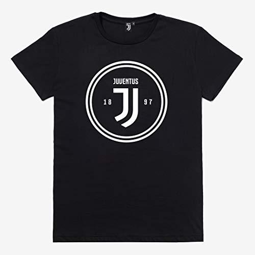 Juventus Maglietta T-Shirt Nera con Logo Bianco - Uomo - 100% Originale - 100% Prodotto Ufficiale - Collezione 2020/2021 - Scegli la Tagli (Taglia L)