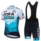 HXXBY 2021 Ciclismo Jersey Tour de France Team Squadra Ciclismo Camicia da Ciclismo Uomo Maglia da Ciclismo Asciugatura Rapida Asciugatura Asciugatura Asciuga (Colore : Figure 14A, Dimensione : L)