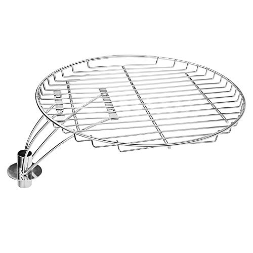 Grisun 13.5 Inches, Cooking Grate with Swivel Shaft for BubbaKeg, Chargriller 16620 and Kettle Charcoal Grills, 13.5 BBQ Grill Warming Round Solid Rod Cooking Grates Grids