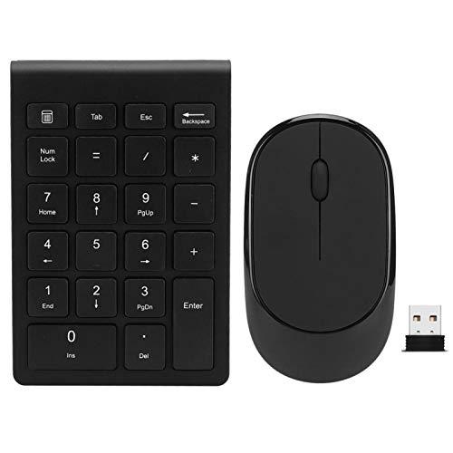 Surebuy Kit de Teclado y ratón, combinación de Teclado y ratón Diseño de pie de Tijera Teclado con diseño Discreto con Receptor para Sistema Win 7/8/10 / Mac/Android