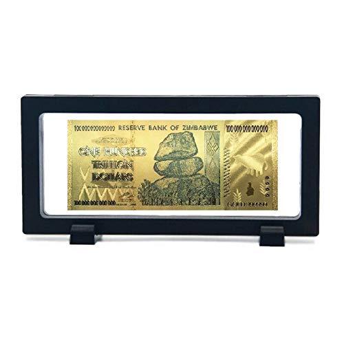 Zimbabwe - Cien billones de dólares chapado en oro para coleccionistas edición especial de reserva de dinero billete de Zimbabue con marco