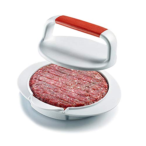QELEG Non Stick Burger Press, Hamburger Maker Mold, BBQ Patty Juicy Regular Beef Maker Round