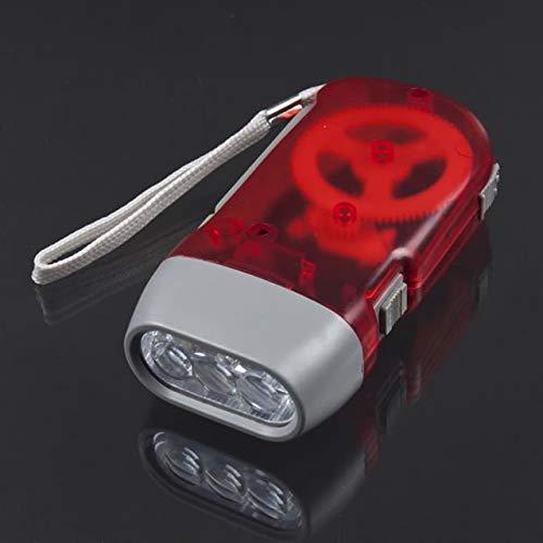 3 LED Hand Pressing Dynamo Crank Power Wind Up Flashlight Torch Light Hand...
