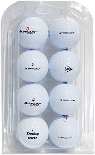 Second Chance Dunlop 8 Salvage Premium Pelotas de golf, pack de 8