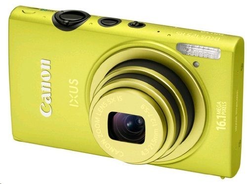 Canon IXUS 125 HS Digitalkamera (16 MP, 5-fach opt. Zoom, 7,5cm (3 Zoll) Display, Full HD, bildstabilisiert) grün