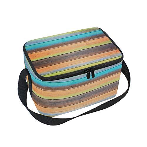 Use7 Lunchbox aus Holz, Isoliert, für Picknick, Schule, Damen, Herren, Kinder