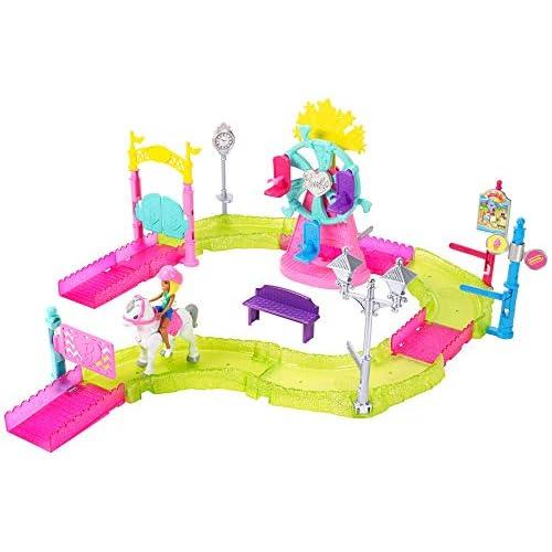 Barbie Parti e Vai Luna Park-Bambola e Pony Inclusi e Pezzi Componibili, FHV70, Modelli/Colori Assortiti, 1 Pezzo