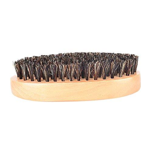 Milopon Brosse à Barbe, Peigne à Barbe, Peigne en Bambou Poils de Sanglier Antistatique Peigne pour Barbe, Cheveux Moustache