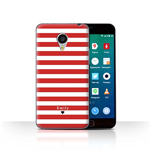 Stuff4Phone Case/Cover/Skin/mzumx4p/Custom Stripes/Striped Collection Coeur Rayé Rouge
